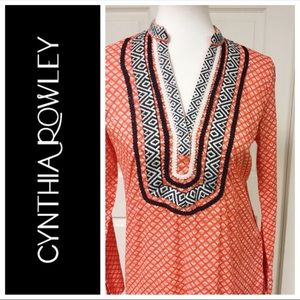 CYNTHIA ROWLEY BOHO EMBROIDERED TUNIC